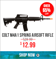 Colt M4A1 Spring Airsoft Rifle - over 65% off