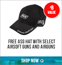 Free ASG Hat with select airsoft guns and airguns