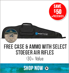 Save $50 + Free case & ammo with select Stoeger Air Rifles