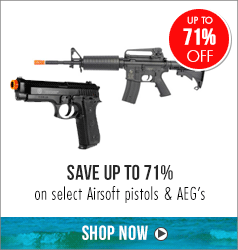 Save 71% on select airsoft pistols & aegs