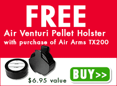 Free Air Venturi Pellet Holster with purchase of Air Arms TX200 - $6.95 value