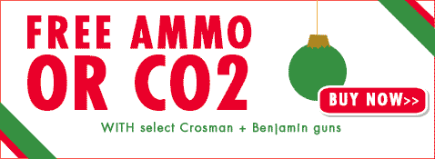 Free ammo or co2 with select crosman and benjamin airguns