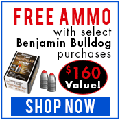 Free ammo with the purchase of a Benjamin Bulldog air rifle