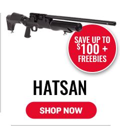 Hatsan - Save up to $100 + Freebies