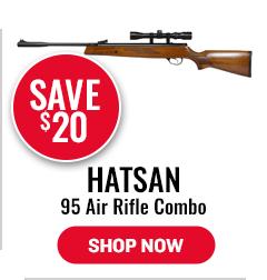 Hatsan 95 Air Rifle Combo, Walnut Stock - Save $20