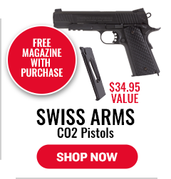 Swill Arms CO2 Pistols - Free Magazine with Purchase - $34.95 Value