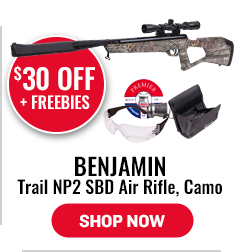 Benjamin Trail NP2 SBD Air Rifle, Camo - Save $30
