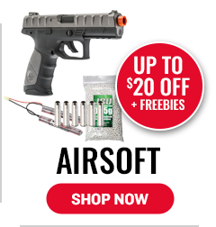Airsoft - Up to $20 Off Plus Freebiew