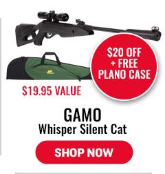 Gamo Whisper Silent Cat - $20 Off Plus Free Plano Case - $19.95 Value