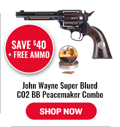 John Wayne Super Blued CO2 BB Peacemaker Combo $40 Off Plus Free Ammo