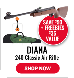 Diana 240 Classic Air Rifle - Save $50 + Target, $14.99 Value