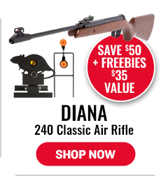 Diana 240 Classic Air Rifle - Save $50 + Targets  $35 Value