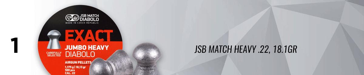 JSB Match Heavy .22, 18.1GR, Domed