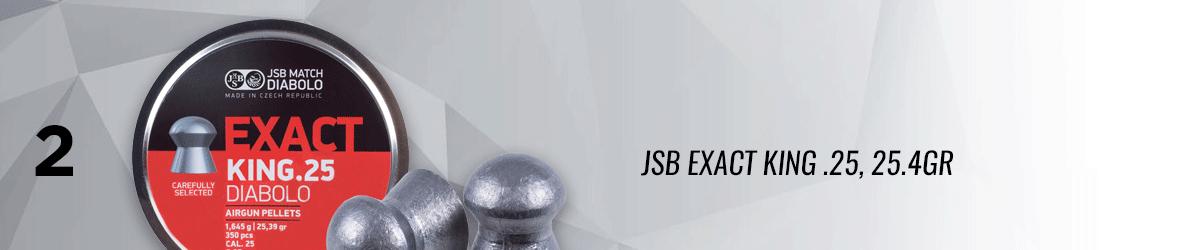 JSB Exact King .25, 25.4 GR, Domed