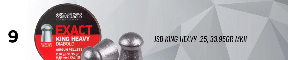 JSB King Heavy .25, 33.95 GR MKII, Domed