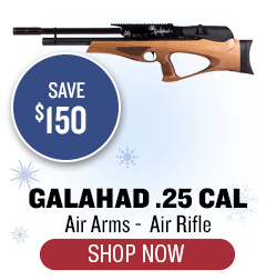 Air Arms Galahad Rifle, Walnut Stock, .25 cal - Save $150