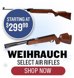 Weihrauch Rifles - Starting at $299.99
