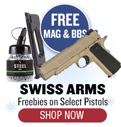 Free Mag and BB with Swiss Arms Pistols - $35 Value