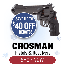 Crosman Pistols and Revolvers - up to $40 off + rebates