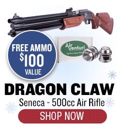 Seneca Dragon Claw 500cc - $100 Free Ammo with Purchase
