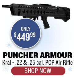 Kral Puncher Armour - .22 + .25 cal - only $449.99