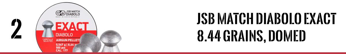 JSB Match Diabolo Exact .177 Cal, 8.44 Grains, Domed, 500ct, 4.52mm