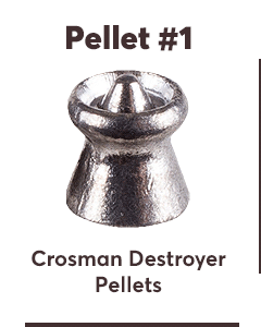 Crosman Destroyer Pellets, .22 Cal, 14.3 Grains, Pointed Expanding, 175ct