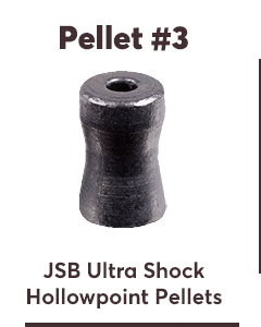 JSB Ultra Shock, .22 Cal, 25.39 Grains, Hollowpoint, 150ct
