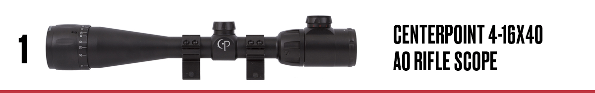 CenterPoint 4-16x40 AO Rifle Scope