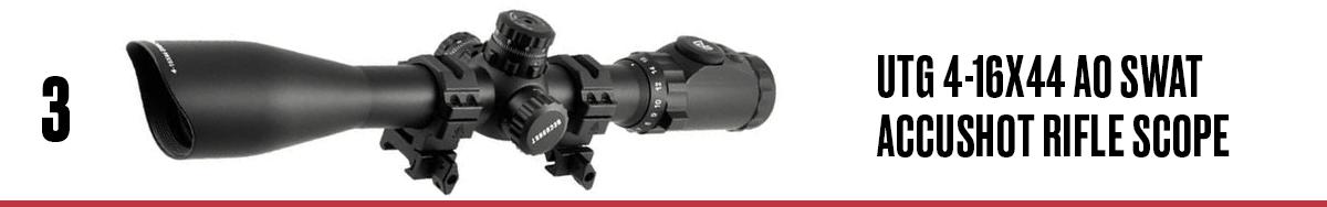UTG 4-16x44 AO SWAT AccuShot Rifle Scope