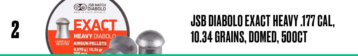JSB Diabolo Exact Heavy .177 Cal, 10.34 Grains, Domed, 500ct