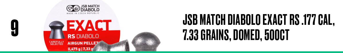 JSB Match Diabolo Exact RS .177 Cal, 7.33 Grains, Domed, 500ct