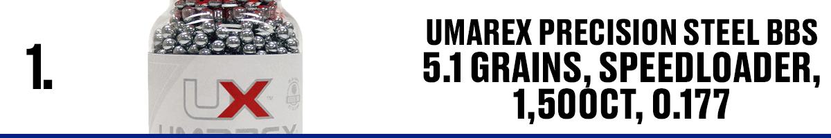 Umarex Precision Steel BBS 5.1 Grains, Speedloader, 1500CT .177