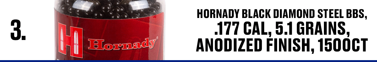 Hornady Black Diamond Steel BBS .177 Cal, 5.1 Grains Anodized Finish 1500CT