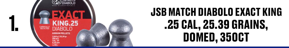 JSB Match Diabolo King .25 Cal, 25.39 Grains Domed, 350 CT