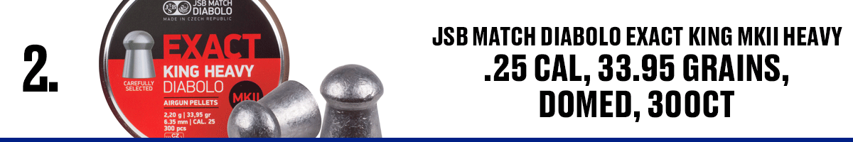 JSB Match Diabolo Exact King MKII Heavy .25 Cal, 33.95 Grains Domed, 300CT