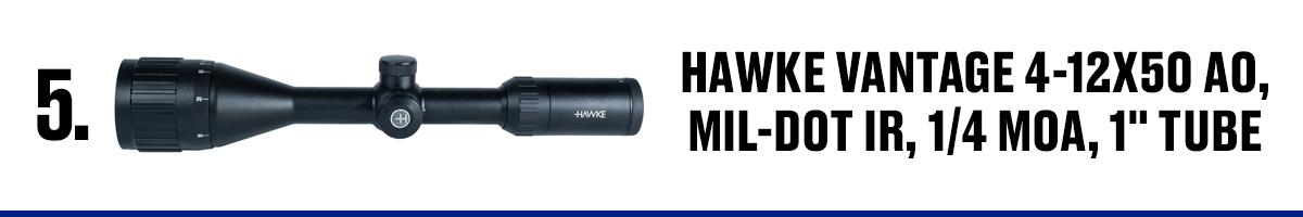 Hawke Vantage 4-12x50 AO, Mil-Dot IR, 1/4 MOA, 1 Tube