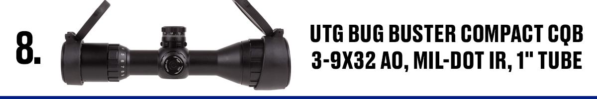 UTG Bug Buster Compact CQB 3-9x32 AO, Mil-Dot IR, 1 Tube