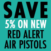 Save 5% on New Red Alert Air Pistols