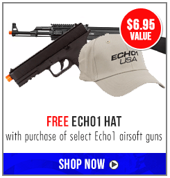 Free Echo1 Hat with select Echo1 Airsoft Guns