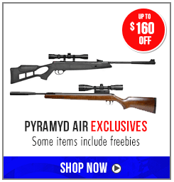 Up to $160 off Pyramyd Air Exclusives - some items include freebies