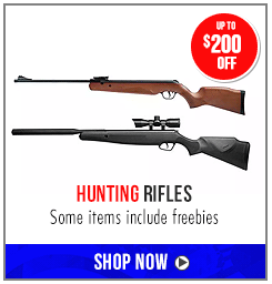 Up to $200 off select Hunting Rifles - some items include freebies
