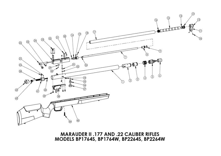 Product Schematics For Benjamin Marauder Air Rifle Pyramyd Air