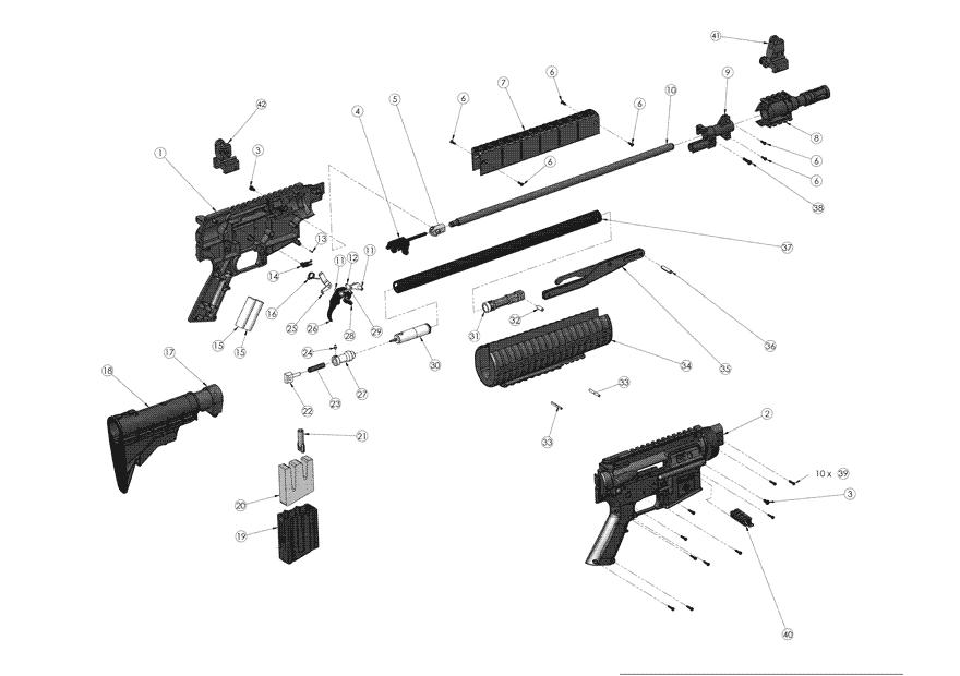 product schematics for crosman m4 177 multi pump air rifle m4 parts schematic m4 schematic #12