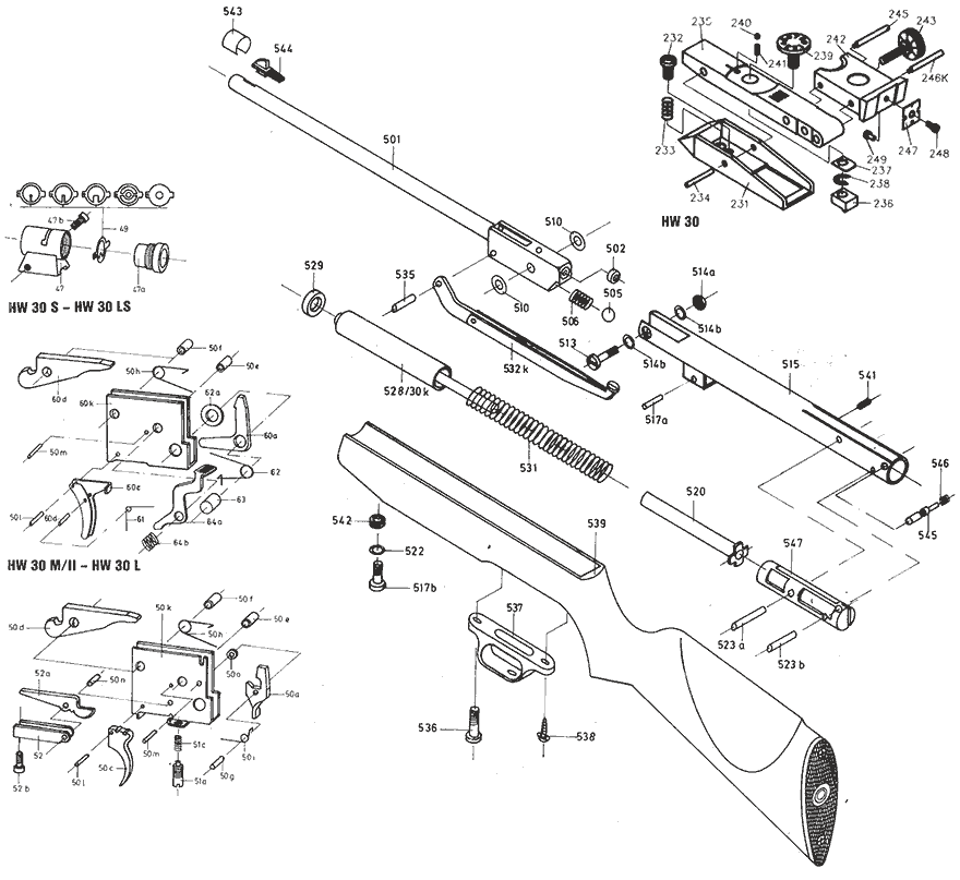Product Schematics For Beeman R7 Air Rifle
