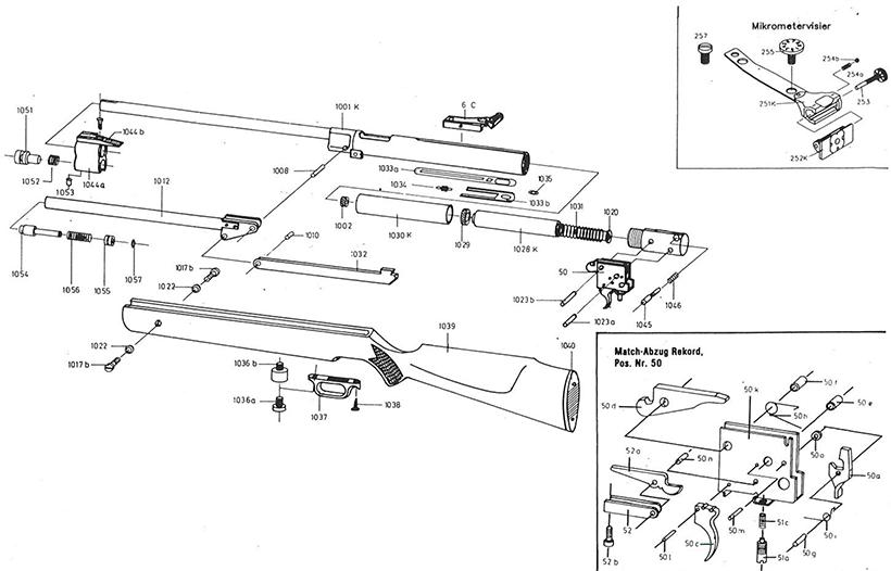 Product Schematics for Weihrauch HW77 air rifle | Pyramyd Air