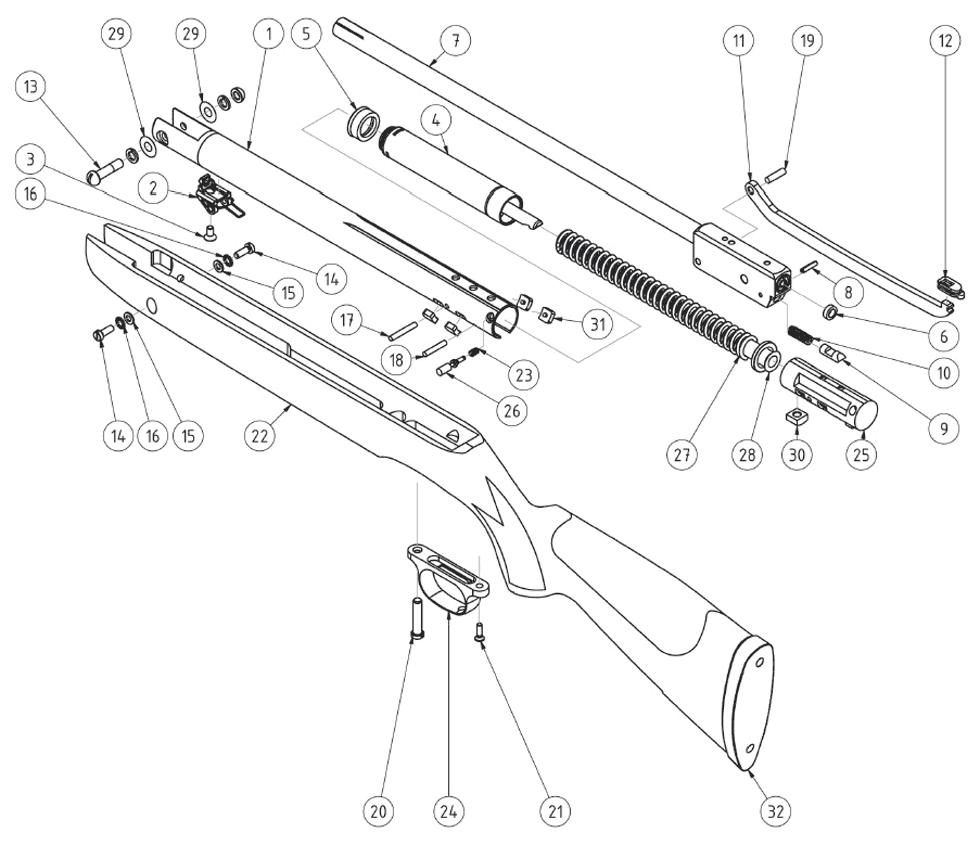 Product Schematics for HW85 - PyramydAir.