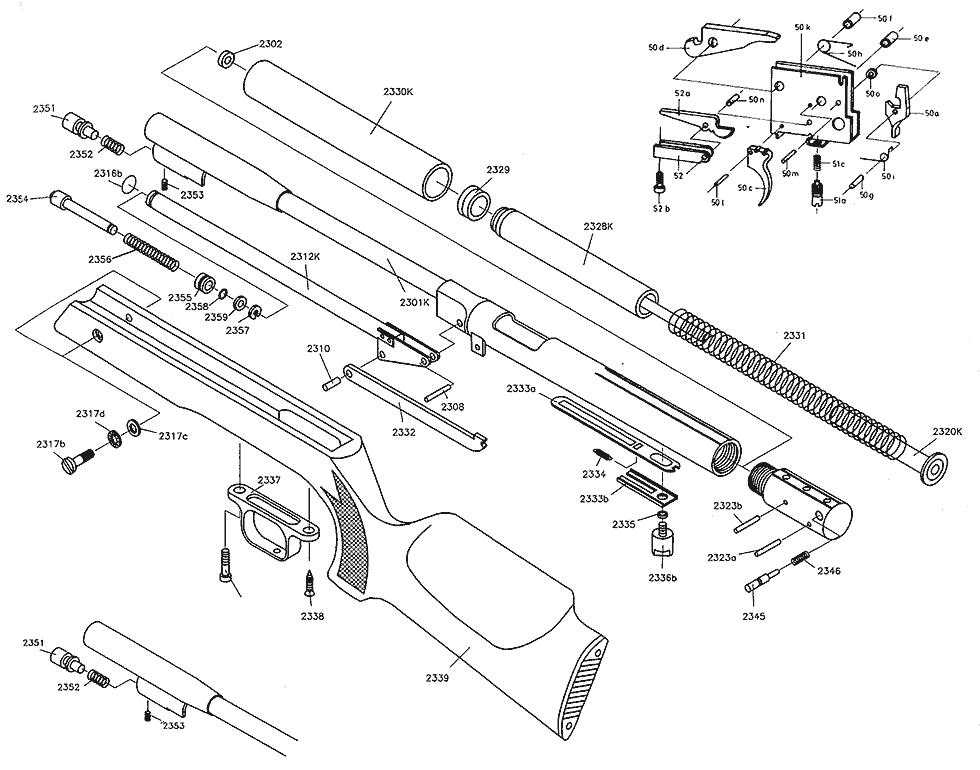 product schematics for beeman hw97k blue