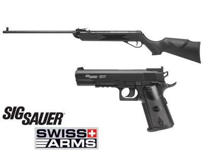 Swiss Arms Air Rifle & SIG Sauer 1911 CO2 Pistol