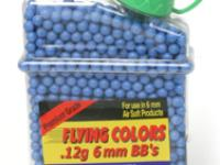 Flying Colors 6mm plastic airsoft BBs, 0.12g, 2000 rds, blue